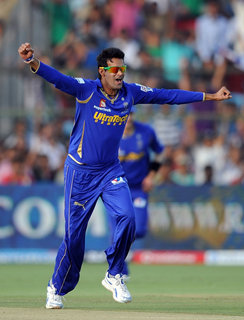 Rajasthan Royals wins against Pune Warriors India by 45 Runs Ajit Chandila hattrick