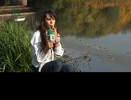 The Russian Reporter and Oil Filled River News