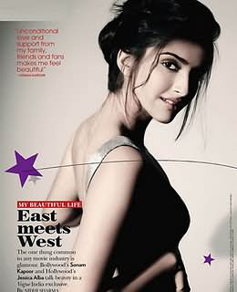 Sonam Kapoor Vogue October 2011 photoshoot pictures