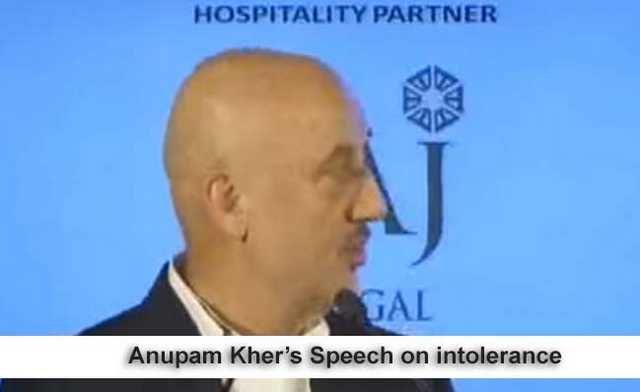 10 picks from Anupam Kher's speech about JNU, & intolerance