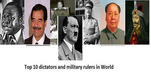 10 Worst Dictators, Military rulers in World History