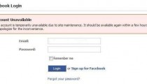 Facebook down due to maintenance