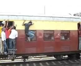 Outrageous India kids in train