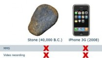 Iphone Vs a stone