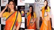 Kareena Kapoor in Saree pics at FICCI Frames 2013