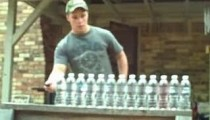 Amazing Knife slashing video 13 bottles slashed in one shot