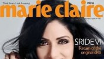 Sridevi Marie Clarie August 2011 Cover picture