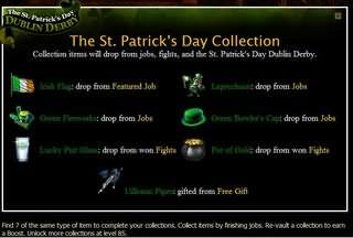 Mafia wars St Patricks Day collection how to get Mafia wars items