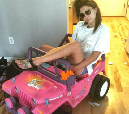 20 Year old girl drives around in a Barbie Jeep after DWI arrest