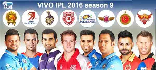 IPL 2016 teams and schedule