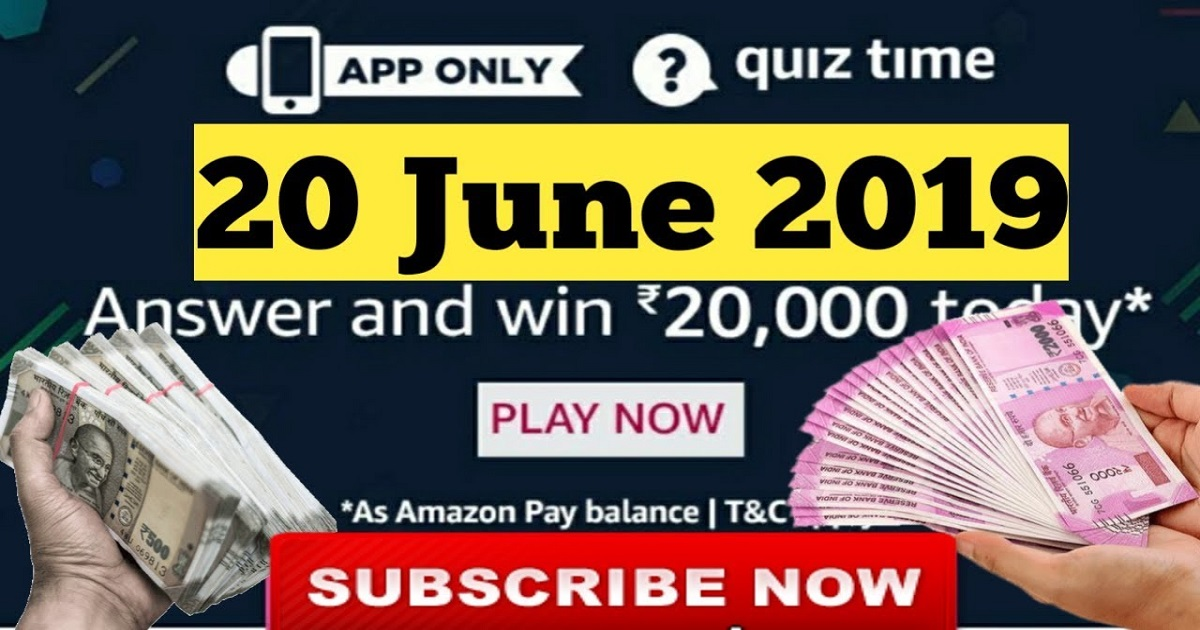 Amazon Quiz 20 June Answers